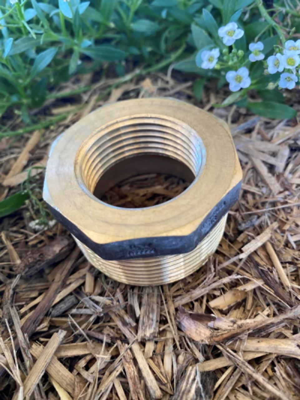 "Bush, 1 1/2"" x  1 1/4"" brass (40mm x 32mm) Watermark Approved"