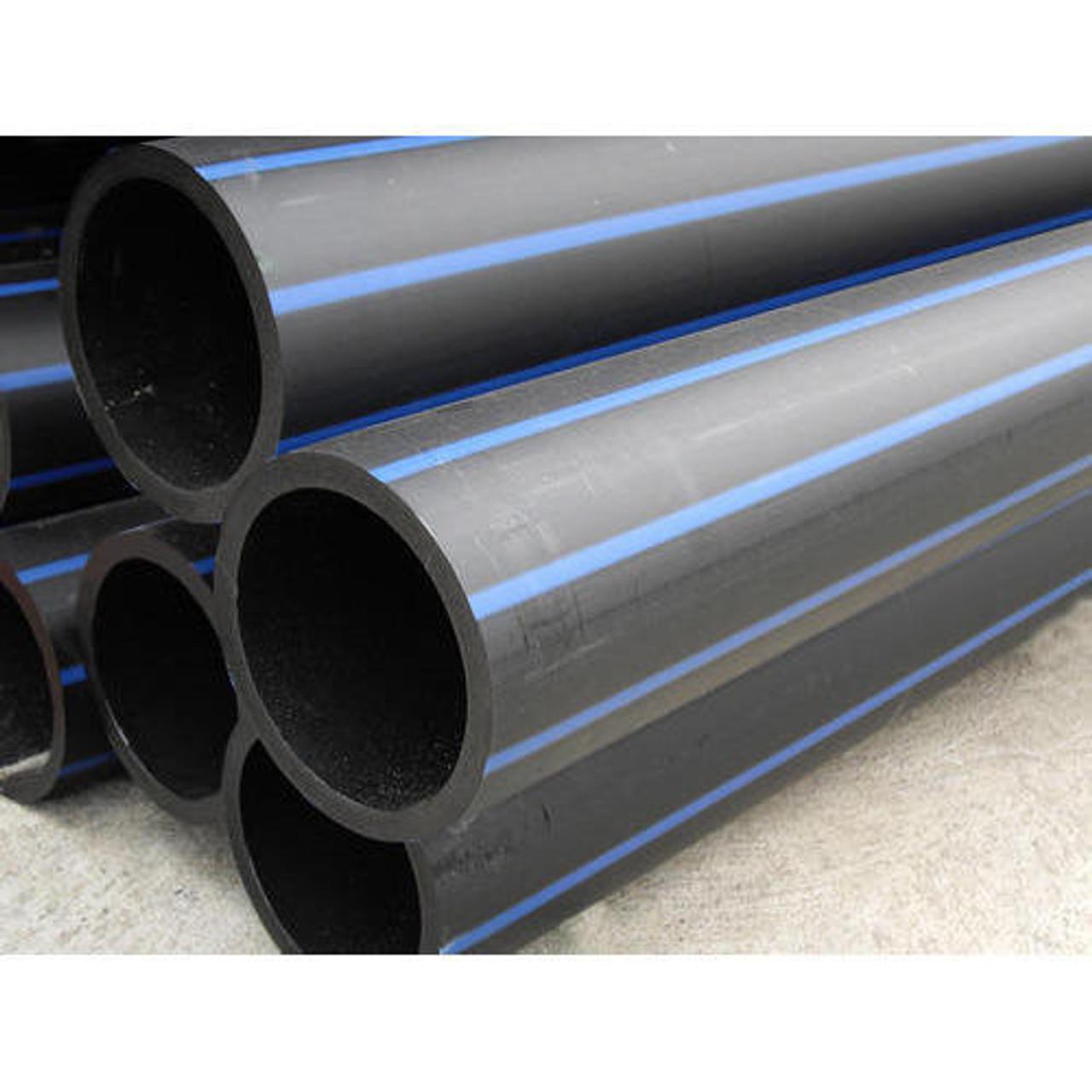 25mm PE100 PN12.5 Metric Polyethylene Pipe - Blue Stripe - 200m Coil