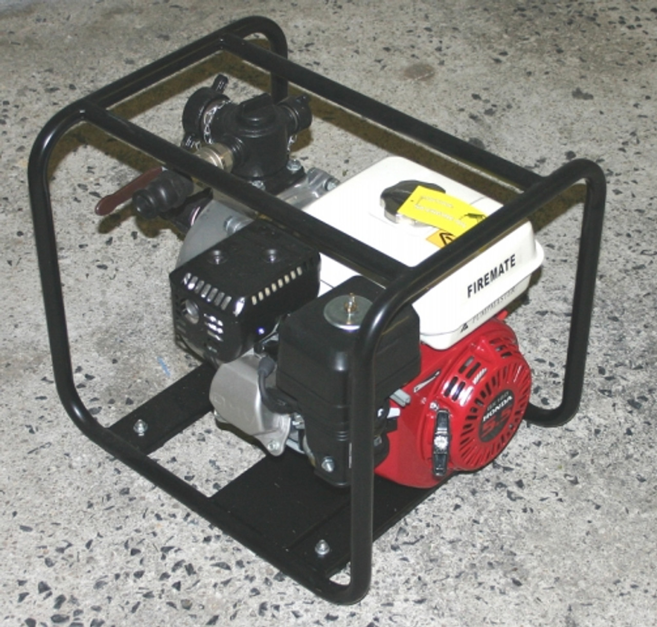 5.5 hp Honda Engine with Heavy Duty Single Impeller Fire Pump and Roll Frame and Season Special Hose Kit and Hose Reel with hose