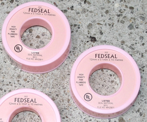 Pink Plumbers Teflon Tape - 10m roll