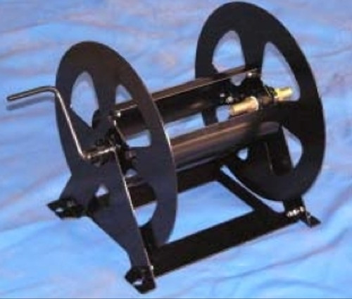 """Steel hose reel to suit up to 40m of 1"""" PVC or Rubber Hose - Australian Made"""