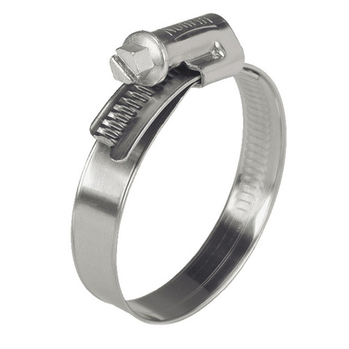 16 - 27mm Norma W4 All Stainless Steel Clamp - Worm Drive
