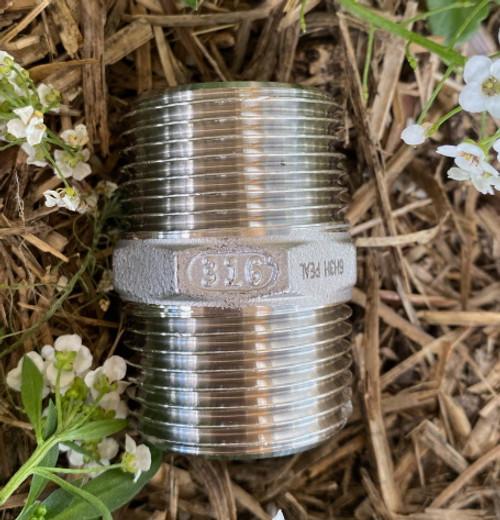 "40mm Hex Nipple - 1 1/2"" BSP Thread"