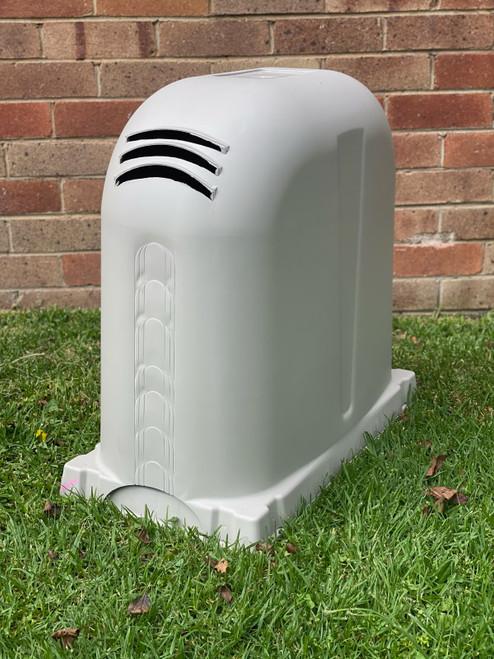 Polyslab with Pump Cover in Birch Grey Polyethylene 640mm x 340mm x 550mm High