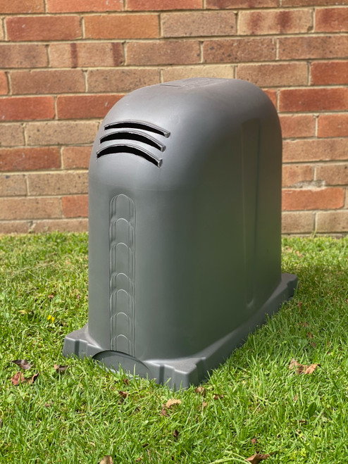 Polyslab with Pump Cover in Monument Polyethylene 640mm x 340mm x 550mm High