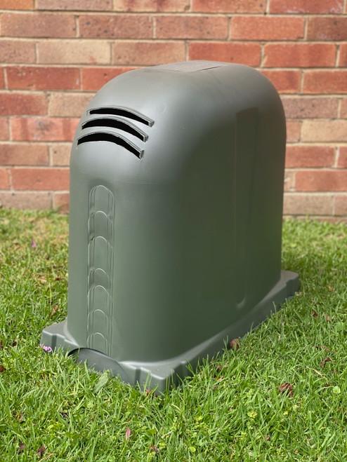 Polyslab with Pump Cover in Woodland Grey Polyethylene 640mm x 340mm x 550mm High