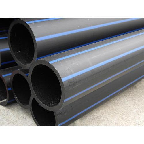 32mm PE100 PN12.5 Metric Polyethylene Pipe - Blue Stripe - 50m Coil