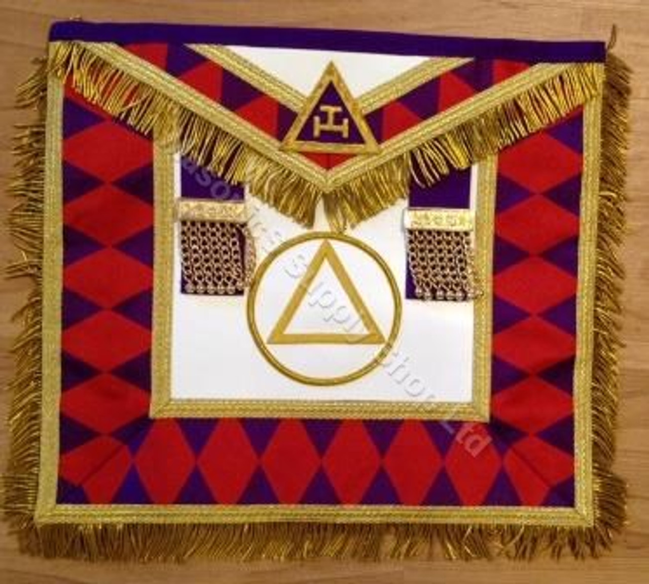 Royal Arch Grand Chapter Apron with Circle with Fringe
