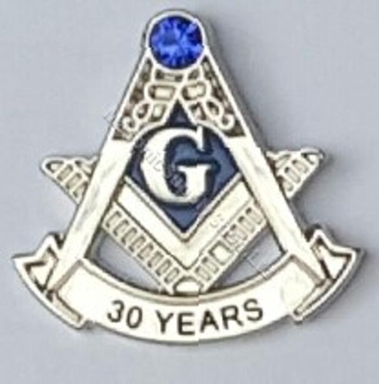 Masonic Anniversary 30 Year Lapel Pin