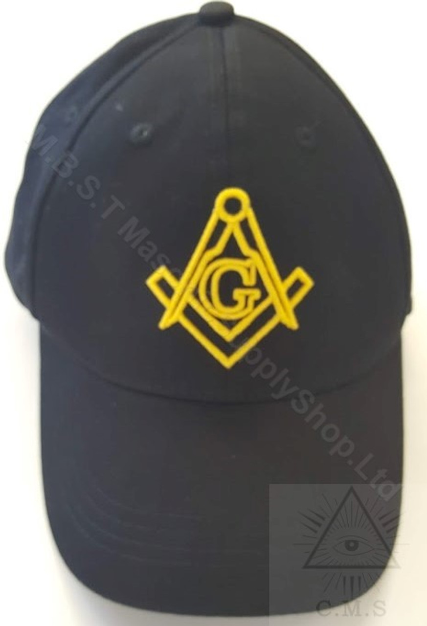 8387950802ebd ... Compass 3D · Masonic Baseball Hat Black with Gold Square   Compass ...