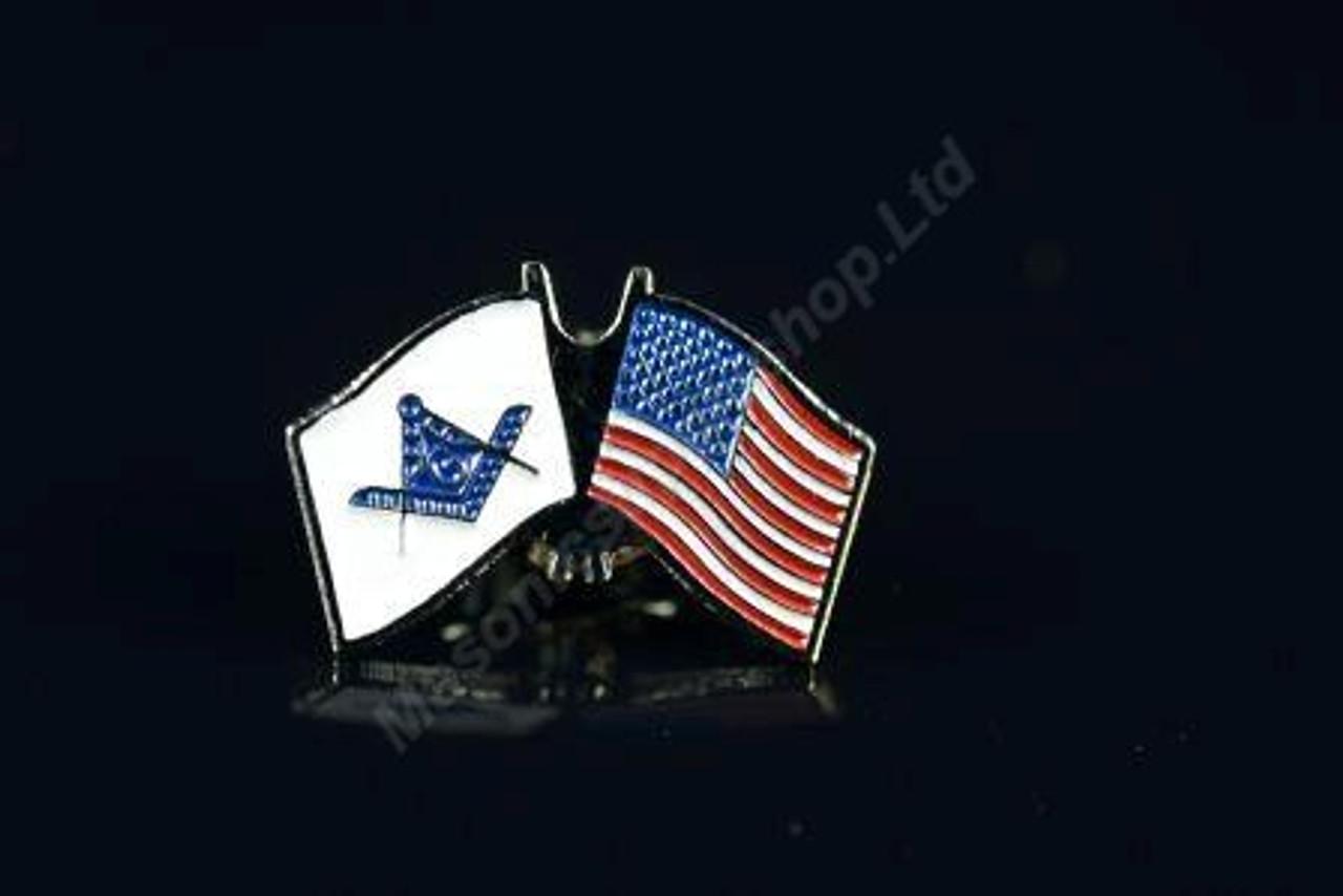 U S Flag & Masonic Flag