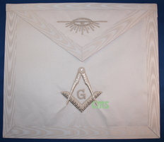Master Mason Apron -1    Hand Embroidered