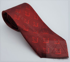 Crimson Red Tie  with S & C