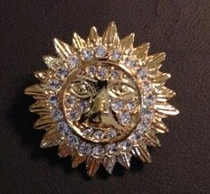 Order of the Easter Star Pin Officer Jewel -Sun
