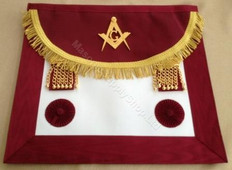 Scottish  Master Mason Aprons Burgundy