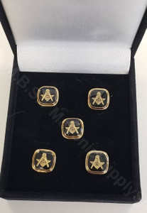 Masonic Shirt Studs  Square with S & C with G    set of Five