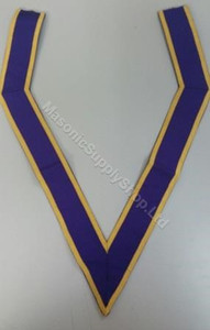 Royal Purple Collaret with Gold Trim