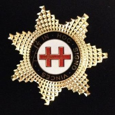 Knight Templar Preceptor Star Jewel  Gold