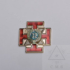 Scottish Rite  32 Degree Lapel Pin