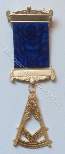 Past Master  Breast  Jewel  US  Square & Protractor Royal Blue