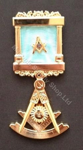 Past Master Breast  Pillar Jewel with Protractor-1