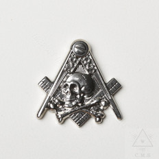 Masonic Skull & Crossed Bones Lapel Pin