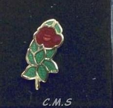 Rose Croix Rose  Lapel pin
