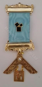 Past Master Breast Jewel with 47th Problom of Euclid Pin