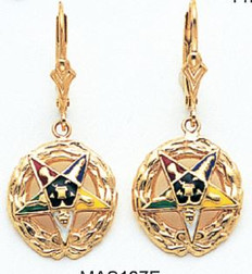 EASTERN STAR EARRINGS MAS107E