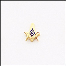MASONIC SQUARE & COMPASS  GOLD LAPEL PIN 93T