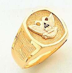 GOLD SCOTTISH RITE RING HOM319NE-X