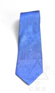 Blue Masonic Tie