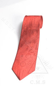 Red Masonic Tie