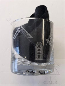 Masonic Whiskey Glass