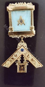 Past Master Breast  Pillar Jewel with  Stone & Working Tools