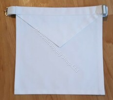 White Cotton Lodge Apron  14 X 16