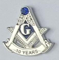 10 year masonic lapel pin
