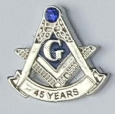 45 year Masonic Lapel pin