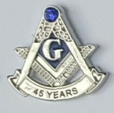 45 year Masonic Lapel pin