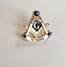 75 Year Masonic lapel Pin