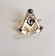 75 Year Masonic lapel Pin