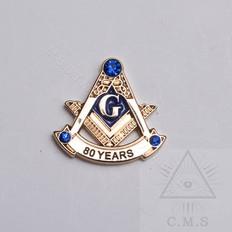 80 Year Masonic Lapel Pin