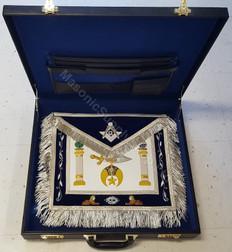 Shrine Master Mason Apron, Case and Jewel