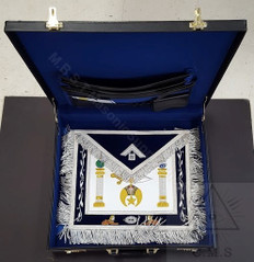 Shrine Custom  Past Master Apron and Case Special with  47th Emblem