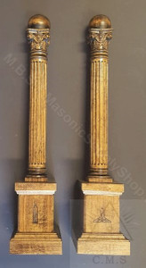Masonic Lodge Wardens Columns
