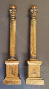 Masonic Lodge Wardens Columns