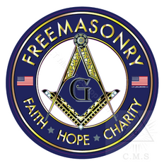 Freemasonry  Car Decals    with Square & Compass and Flags