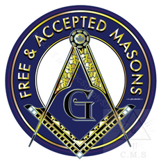 Freemasonry  Car Decals    with Square & Compass  Free & Accepted Masons