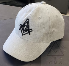 Gray Masonic Base ball Hat