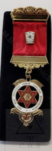 Royal Arch  Traditional Companion Jewel Red Two Bar
